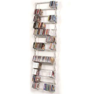 Ein Regal zur CD DVD Archivierung aus Aluminium zur Wandmontage von Patte.