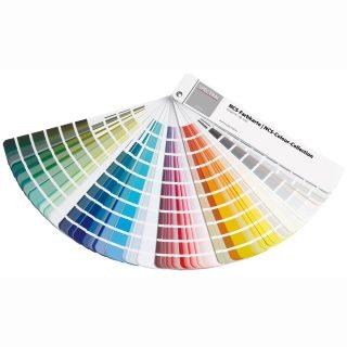 Ein Farbfächer zur genauen Bestimmung ihrer Wunschfarbe.