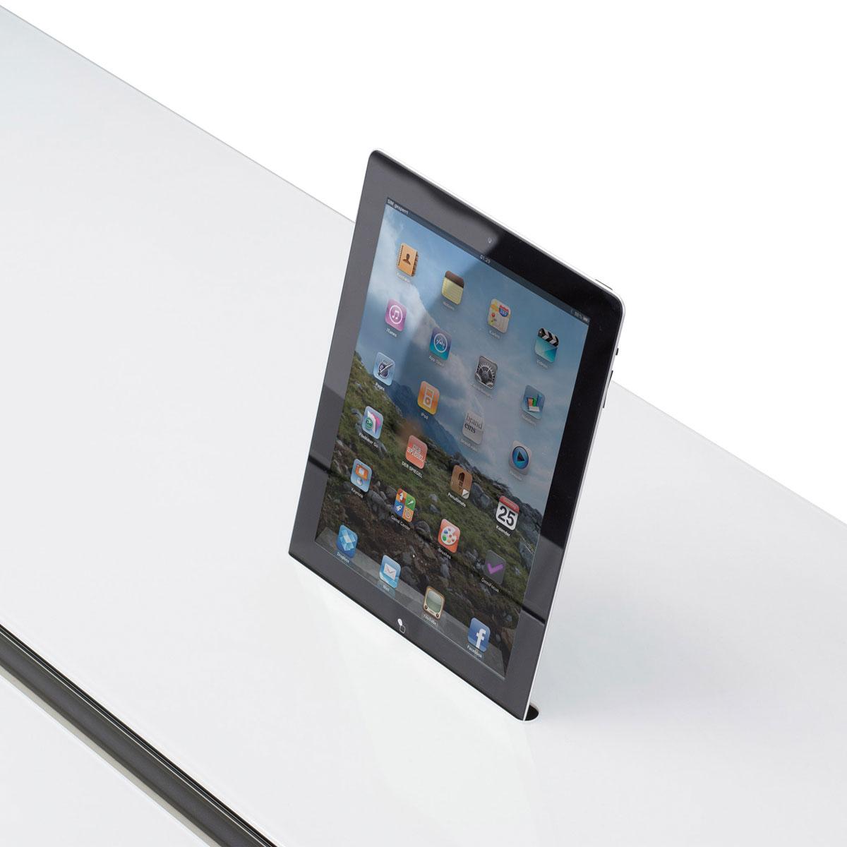 Auch für iPads von Apple. Immer geladen und mit der Technik verbunden. Los gehts.