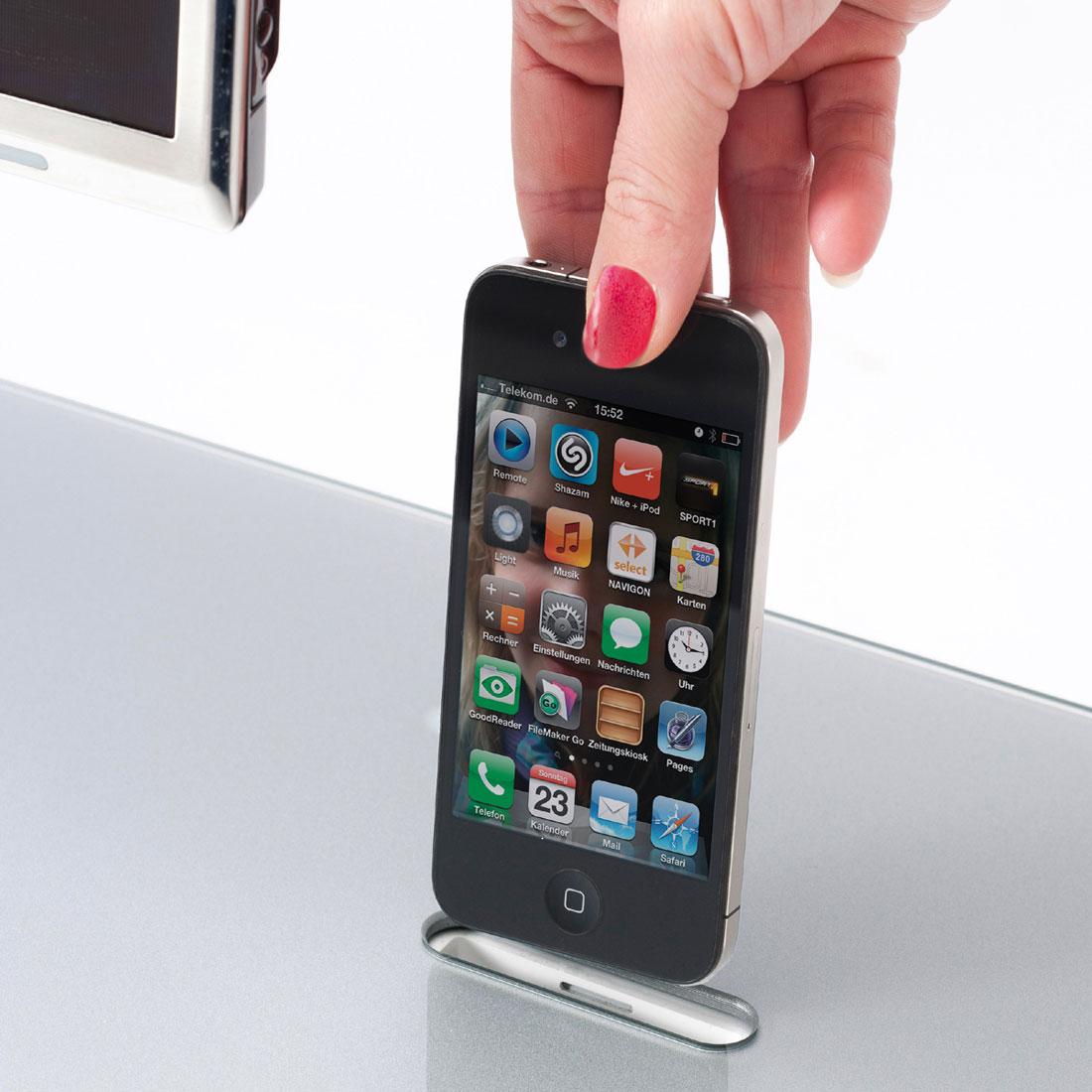 Bei TV Möbel von Spectral ist einen Docking Funktion für Applegeräte optional erhältlich.