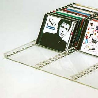 Tablar aus Acryl für CD Aufbewahrung und DVD. Sehr stabil durch den hohen Makrolonanteil.