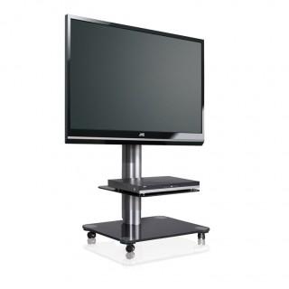 Rollbares stabiles Fernsehmöbel von Spectral mit Glasböden. Online bestellen, wir beraten Sie gerne telefonisch.