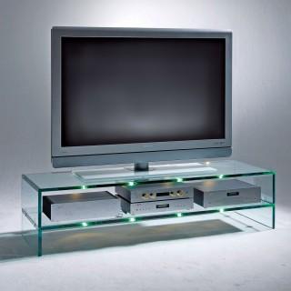 Ein Audio TV Möbel aus Glas. Wir beraten Sie vor der Bestellung gerne telefonisch.