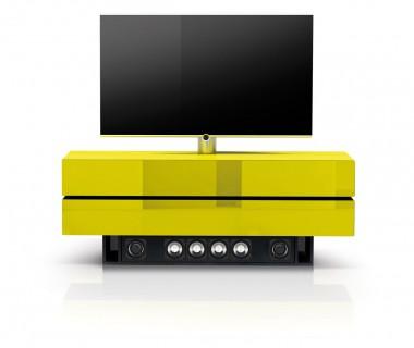 Ganzglas Hifi TV Möbel mit einem Soundsockel. Für ihren Geschmack beraten wir Sie gerne telefonisch.