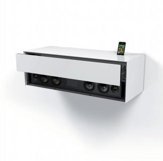 Wandhängendes Board mit der Möglichkeit einer Soundbarintegration.