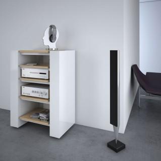 Hifi Rack mit verstellbaren Fachböden das Highlight zum passenden TV Hifi Möbel Lowboards von Schnepel.