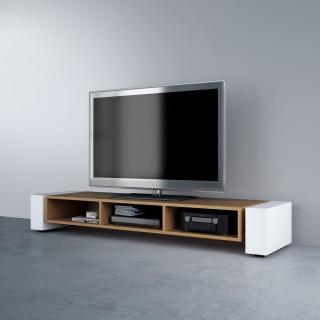 Offenes Fernsehmöbel mit drei Fächern