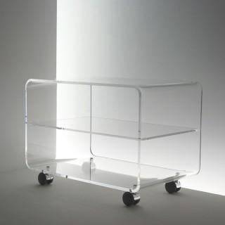 Acryl Möbel, Rollcontainer mit Böden sehr kratzfest durch hohen Makrolonanteil