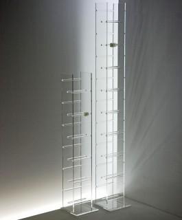 CD DVD Turm aus Acryl stabil und sehr kratzfest durch hohen Makrolonanteil