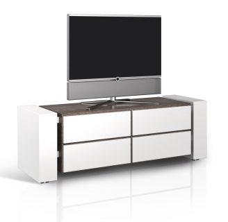 Rollbares geschlossenes Hifi TV Möbel mit vier Fächer. Mit telefonsicher Beratung online bestellen.