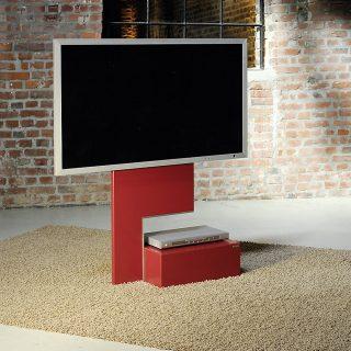 Stabiler leicht rollbarer Fernsehhalter von Wissmann Raumobjekte.