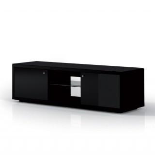 Das Modell JRA 150 ist ein Hifi TV Möbel mit 2 Türen jeweils links und rechts, mit einem offenen Mittelteil.