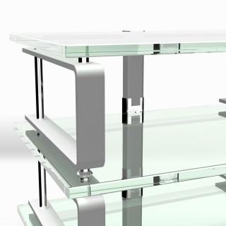 Der Rahmen ist vibrationsgedämpft mit Soundglas ideal für Hifi