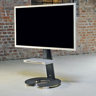 Stabiler rollbarer Fernsehhalter mit DVD Board für grosse TV`s.