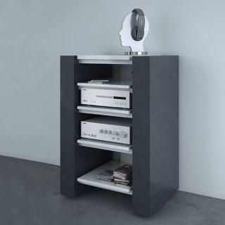 Ein Hifi Rack in Schieferoptik. Auch gibt es TV-Möbel in dieser Variante.