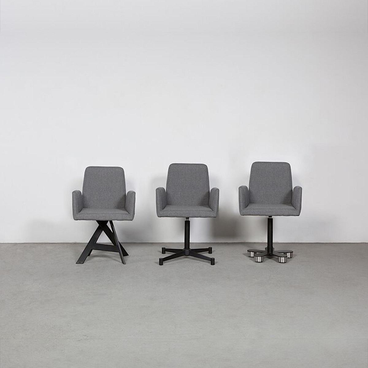Wissmann Designerstühle 3 Varianten in grau / schwarz
