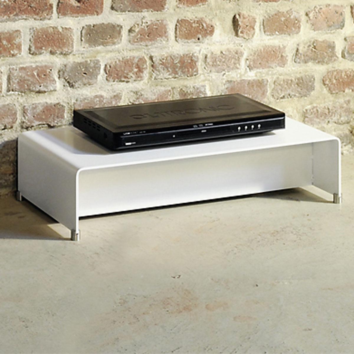 Ablageboard aus Stahl für CD DVD und Bluray Player von Wissmann Raumobjekte.