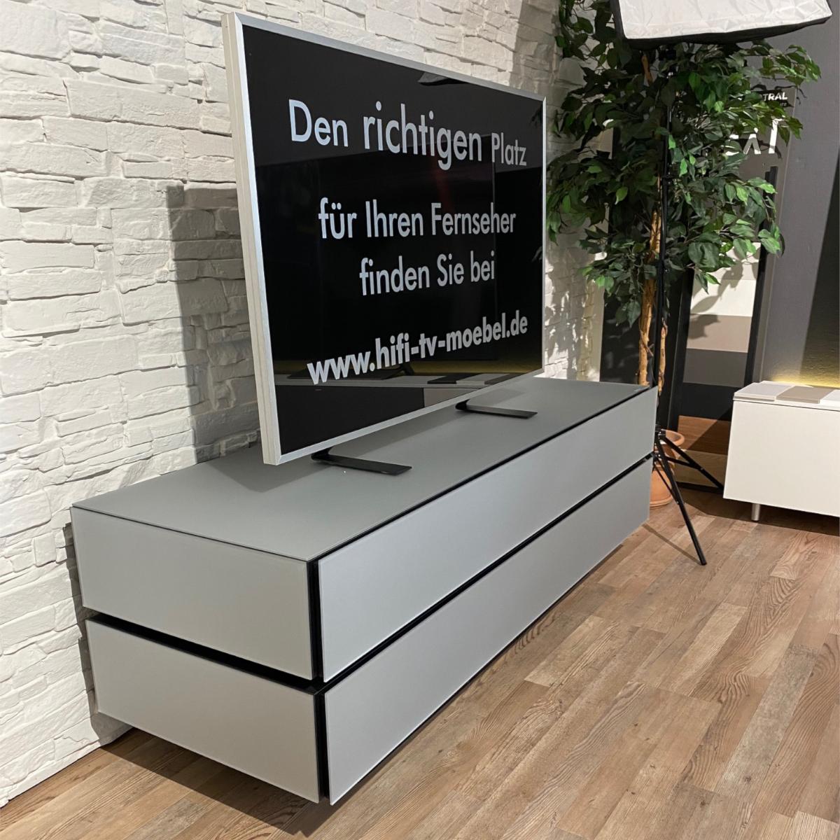 Lowboard, geschlossenes TV Möbel, mit verdeckter Kabelführung, TV Lowboard, TV Sideboard