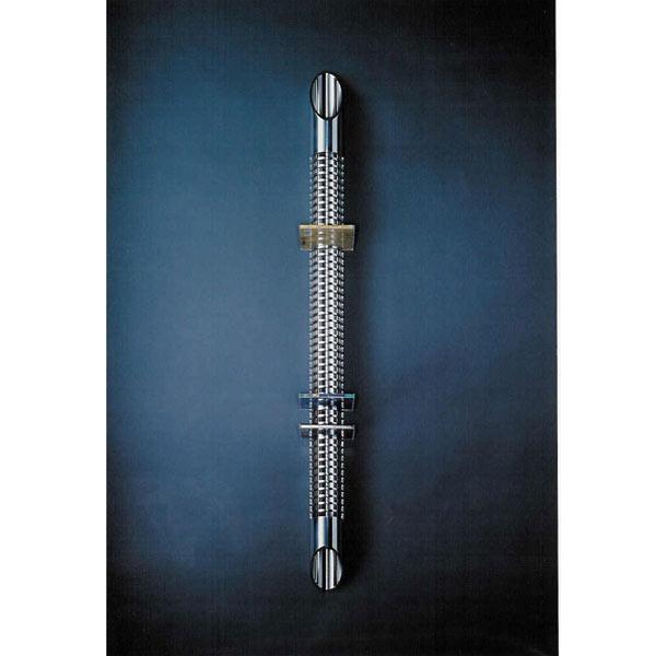 CD Ständer-Rund 8x156 cm (BxH) aus Aluminium. Edles Design. Für 70 CDs. Modell Wall Tube von Liko Design.