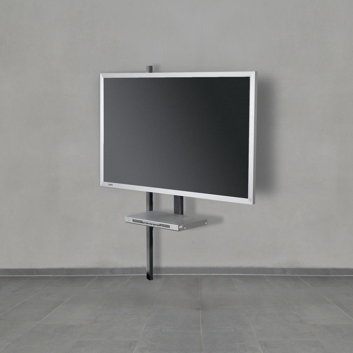 TV Wandhalter mit Schwenkarm. Drehbar. Optional DVD Board. Geräte bis 85 Zoll. Modell Solution Art 121 von Wissmann Raumobjekte.