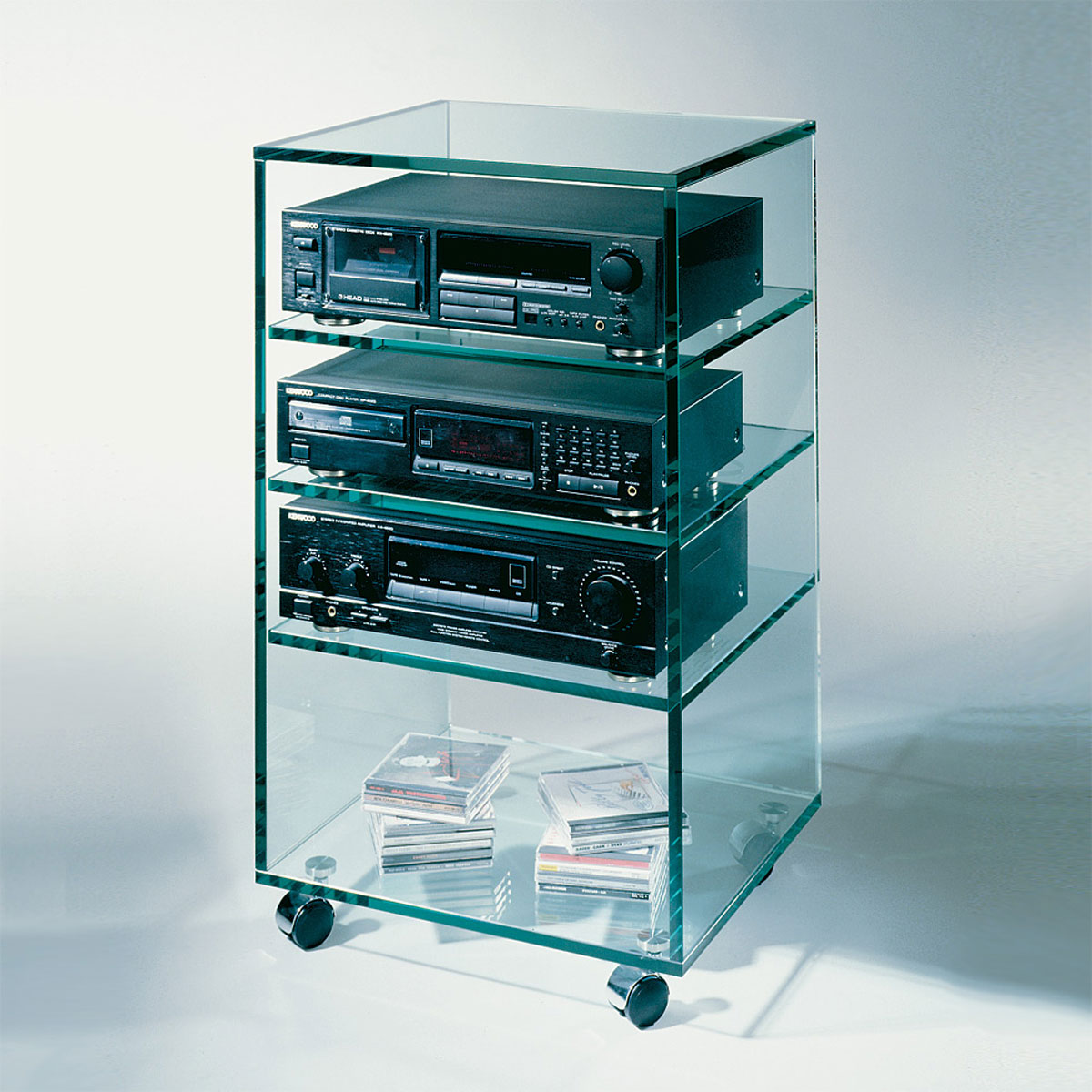 glass concept stereo rack 1 hifi rack bei hifi tv. Black Bedroom Furniture Sets. Home Design Ideas