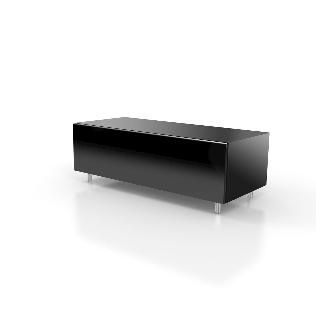 Soundelement, Stoffbespannte Klappe, Soundsystemvorbereitung, verdeckte Kabelführung, TV Lowboard, TV Sideboard, TV Regal, TV Möbel, TV Schrank, TV Rack, Hifi Möbel, verglast, für Soundbarintegration, passend für Soundbars und Subwoofer, Just Racks