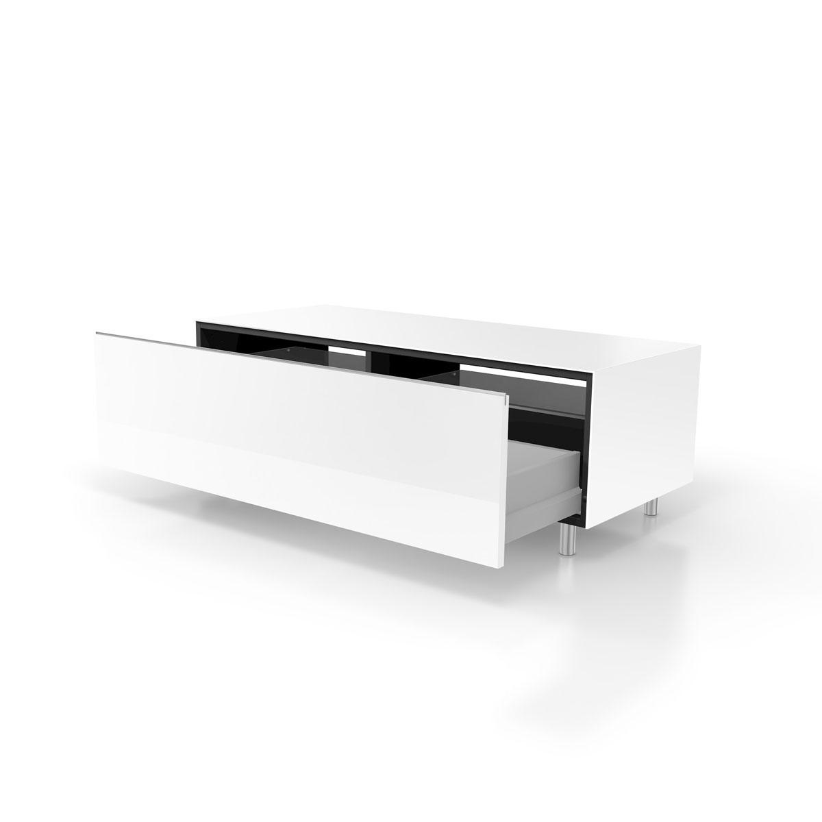 Verglaster TV Schrank. Mit Schublade. Mit Einlegeböden. Modell JRL 1100S von Just Racks.