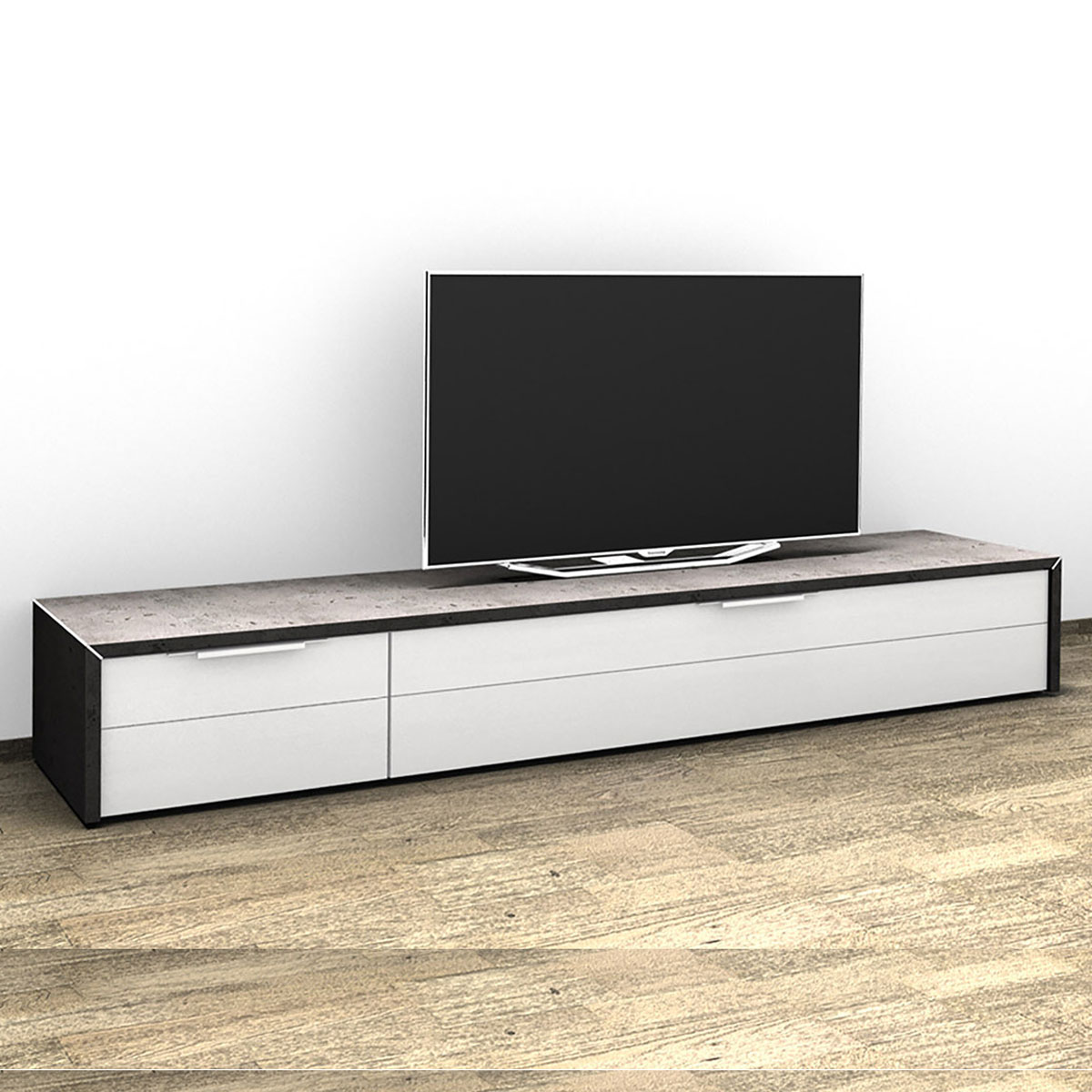 wohnling tv hifi bank luca buche fernsehtisch drehbar rollbar 75 x 38 x 51 cm smash. Black Bedroom Furniture Sets. Home Design Ideas