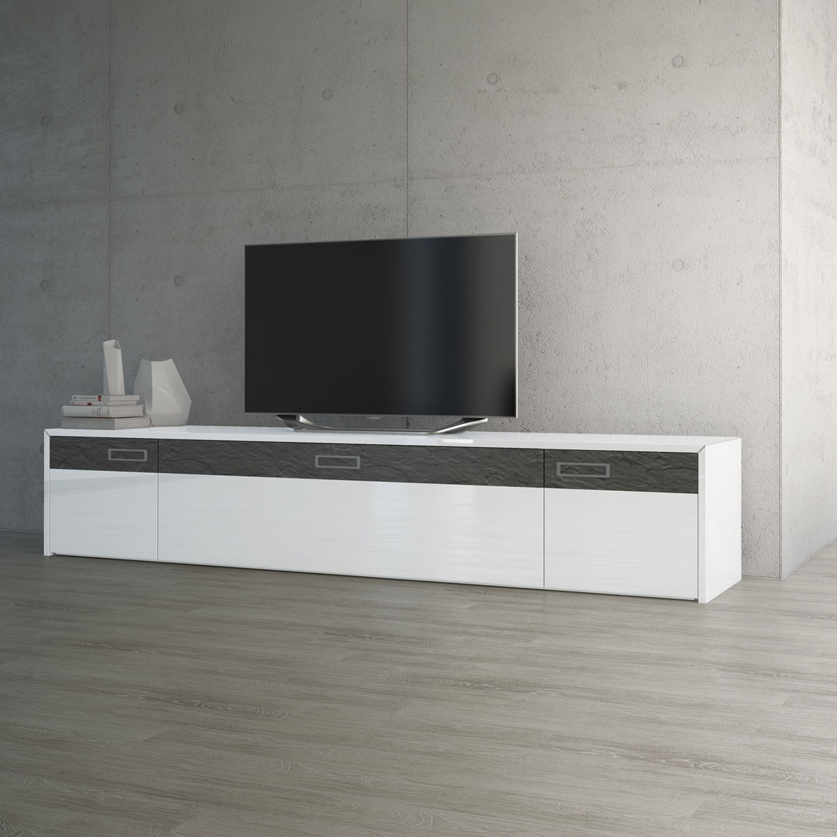 sideboard fernsehmbel cheap hilton garden inn stuttgart neckarpark blick vom bett aus auf. Black Bedroom Furniture Sets. Home Design Ideas