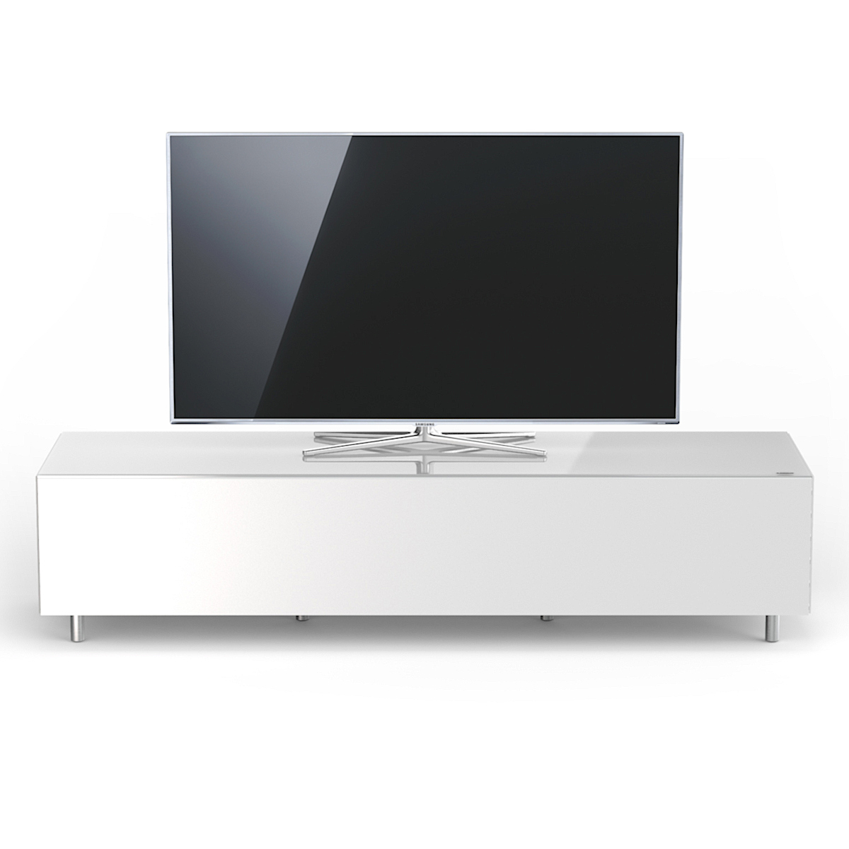 verdeckte Kabelführung, TV Lowboard, TV Sideboard, TV Regal, TV Möbel, TV Schrank, TV Rack, Phonoschrank, verglast, Klappe, Just Racks