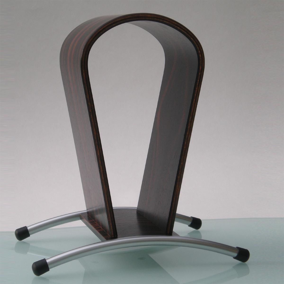 Ein Kopfhörerhalter ergonomisch geformt. Schonende Aufbewahrung. Perfekte Belüfftung. Modell Rooms L.