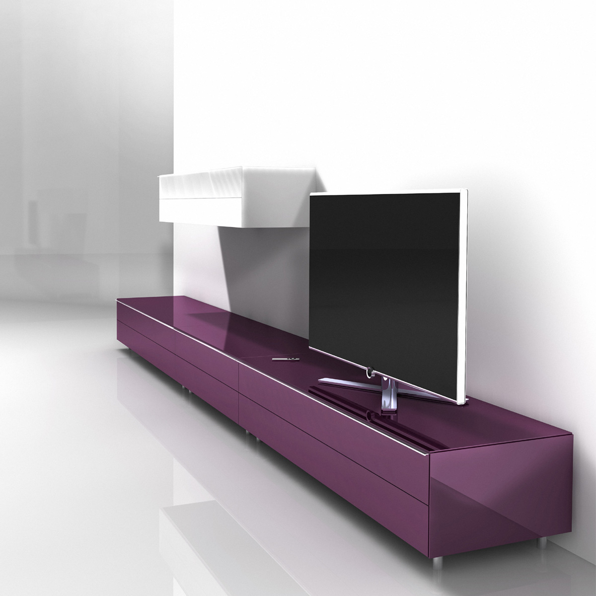 spectral just racks jrl1651s bg smarttv m bel mit soundbar. Black Bedroom Furniture Sets. Home Design Ideas