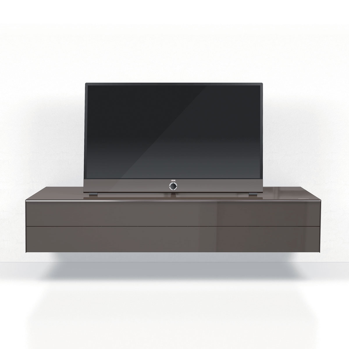 Lowboard, geschlossenes TV Möbel, mit verdeckter Kabelführung, mit Klappe, TV Lowboard, TV Sideboard, mit Schublade, mit Soundbarintegration, TV Regal, TV Möbel, TV Schrank, TV Rack, Hifi TV