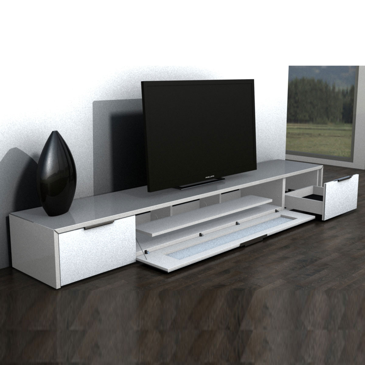 lowboard hifi m bel. Black Bedroom Furniture Sets. Home Design Ideas