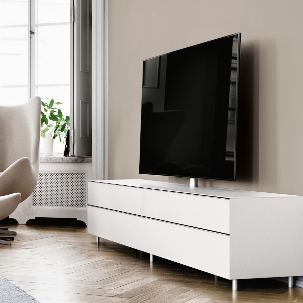 Ein TV Möbel mit elegantem Design und raffinierter Technik. Modell Scala von Spectral.