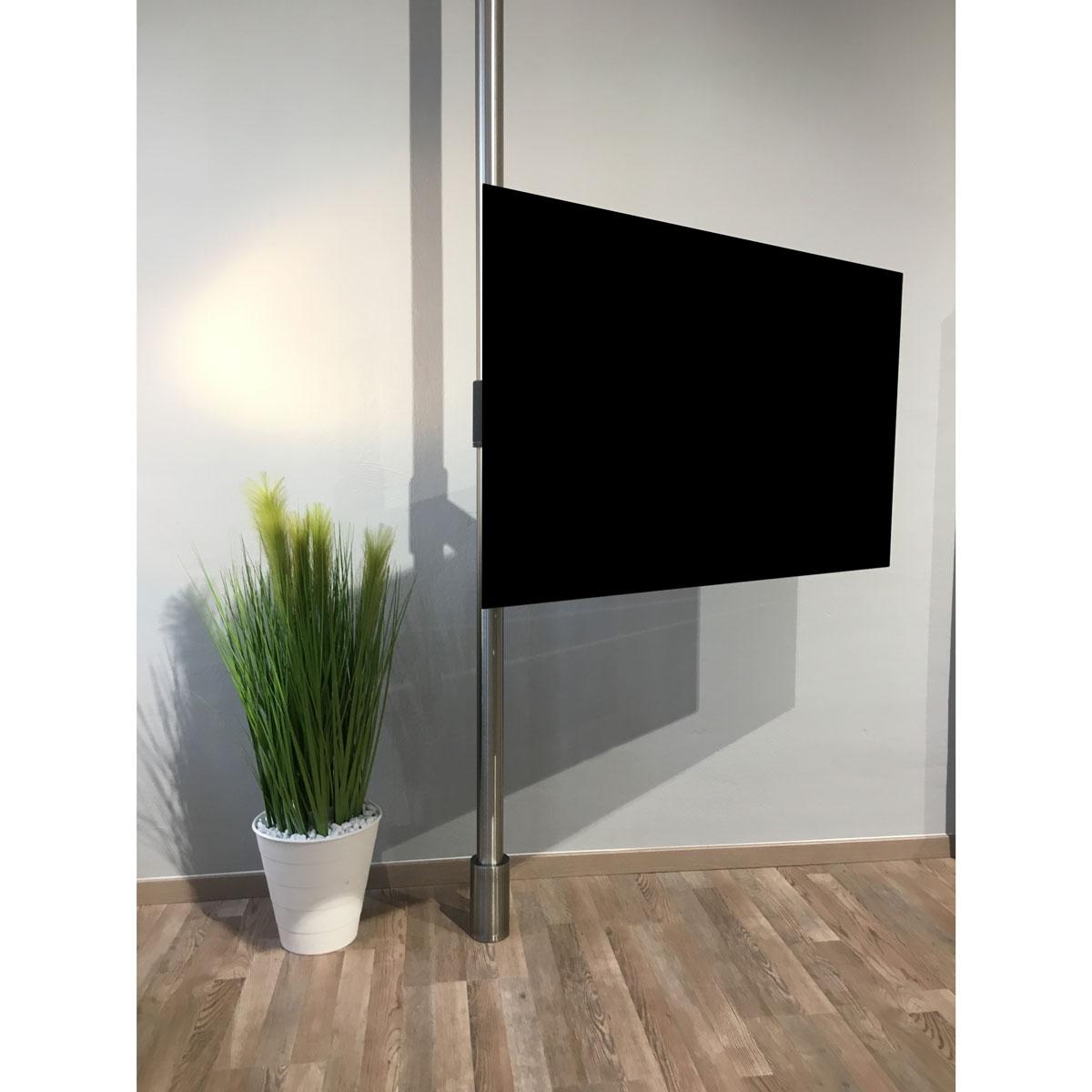 stabiler TV Wandhalter, für eine Deckenmontage, unsichtbare Kabelführung, robuste und drehbare Fernsehhalterung, mit Soundbarhalterung, Wissmann Raumobjekte, mit Schwenkarm, befestigung an einer Edelstahlstange,