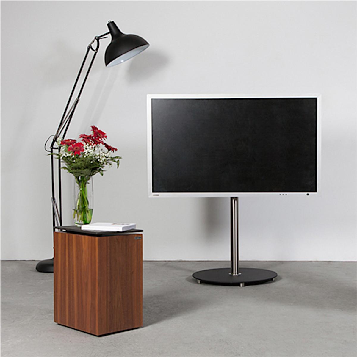 Wissmann aro art 139, TV-Ständer, rollbar, drehbar, Edelstahl, 360°