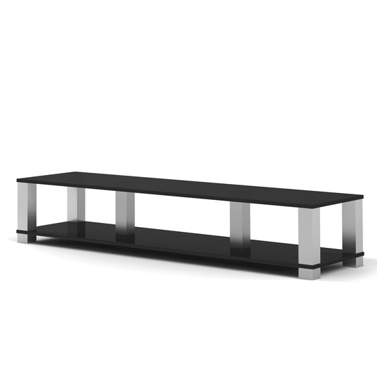 Ein Hifi TV Board der Extraklasse. 200x38x55 cm (BxHxT) Mit 2 stabilen Glasböden. Trägersäulen aus Aluminium. High End von Spectral.