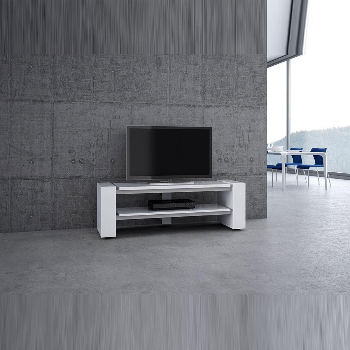 Monatsaktionsmodell. Preiswertes rollbares TV Lowboard 140x46,4x48 cm (BxHxT). Aktionsmodell X Linie 1400 offen von Schnepel.